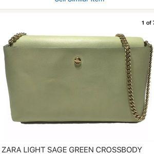 Zara light green crossbody bag